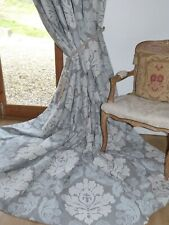 """MARK ALEXANDER CURTAINS ARCADIA Interlined CLASSIC DAMASK Ea 104""""W 114""""D NEW"""