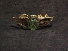 Sign Wings Pin Sea Foam Green Peace