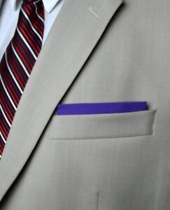 Pre Folded Men's 100% Cotton Pocket Square Hankie for Executive,Prom,Graduation