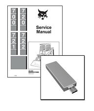 Bobcat 700 720 721 722 Skid Steer Loadr Workshop Service Repair Manual USB Stick