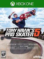 TONY HAWKS PRO SKATER 5 XBOX ONE NEW! SKATEBOARD, SKATE STUNT TRICK, SKATEPARK
