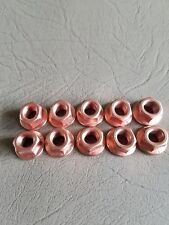 VW AUDI BMW COPPER EXHAUST NUT M8 X 1.25 SET OF 10 CRIMPED SHOULDERED  $10.75