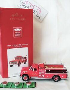 Hallmark 2021 Fire Brigade 1966 Ford Fire Engine 2021 Metal Ornament with Light