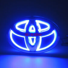 Illuminated 5D LED Car Tail Logo Light Badge Emblem For Toyota RAV4 REIZ Blue