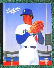 Los Angeles Dodgers - 1984 Game Scorecard Magazine - Rick Honeycutt - Pitcher