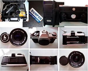 PRL) CANON AE-1 BODY FOTOCAMERA ANALOGICA 135 35 mm FILM KAMERA 35 50 FD LENSES