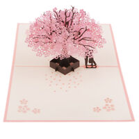 3D Sakura Cards Pop Up Card Handmade Valentine's Day Cards Festival Card