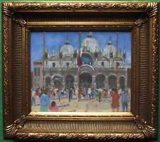 Saint Mark's Square Venice : Original Impressionist Oil Painting by David Baxter