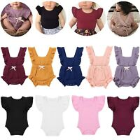 Newborn Baby Girls Romper Tops Jumpsuit Tutu Pants Summer Outfits Clothes Sets
