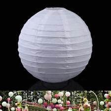 """Multicolor  Round Chinese Paper Lanterns Wedding Party Decoration 6"""" White"""