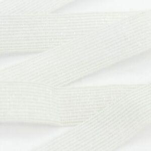 leichtes Gummiband Cremeweiß mit leichter Zugkraft 2cm fein zart Meterware