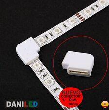 CONECTOR EN L 4 PIN RGB PARA TIRAS LED SMD 5050 10mm (NUEVO PRODUCTO)