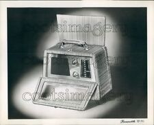 1945 Artist Drawing Farnsworth Portable Radio With Handle Press Photo