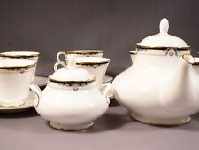 VINTAGE Royal Doulton Rhodes Gold TEA set Teapot Cups Sugar New