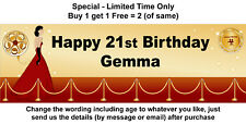 Birthday Party Banner Sign Decoration - RED CARPET SPECIAL EVENT HOLLYWOOD Theme