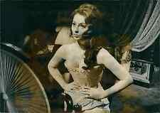 Actrice française Claudine Coster Vintage silver print.  Tirage argentique d&#