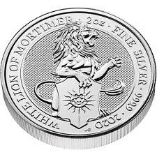La Grande-Bretagne 5 LB 2020 the white lion of Mortimer 2 Oz silver coin
