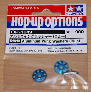 Tamiya 54849 Aluminum Wing Washers (Blue) (TT02B/DB01/TA07/DF03/TRF419), NIP