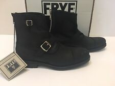 NIB Frye Brayden Bal Engineer Rugged Black   Leather Vintage  Boots 11 M  $399