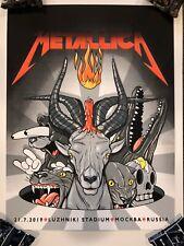 Metallica Poster Print Numbered Mockba Russia AP Artist Edition