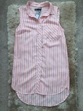 BNWT Ladies Primark Long Striped Sleeveless Shirt Size 8 Summer/Festival