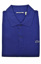 Lacoste Mens Royal Blue Color block Striped Pique Polo Shirt Sz Fr 8 Us 3XL XXXL