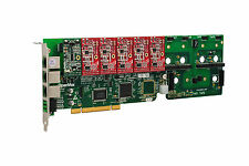 OpenVox A1200P0105 12 Port Analog PCI Base Card + 1 FXS + 5 FXO, Ethernet (RJ45)