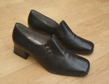 Gabor Patternless 100% Leather Casual Heels for Women