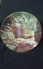 Knowles collector plate The Hidden Waterfall By Bart Jener's
