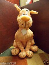 "13"" Scooby Doo Orange/White Checkered, Plaid, Gingham Plush Doll Stuffed Animal"