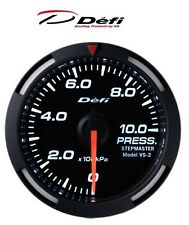 Defi Racer 52mm Car Oil Pressure Gauge - White - JDM