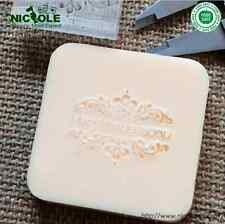 4X4cm 0079 DIY  Natural Handmade Acrylic Soap Seal Stamp Custom Soap Stamps