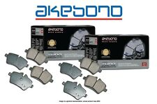 [FRONT+REAR] Akebono Euro Ceramic Disc Brake Pads USA MADE AK101208