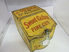 VINTAGE ADVERTISING SWEET CUBA STORE BIN COUNTER CANISTER  TIN 147-H