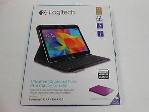 Logitech Ultra thin Keyboard Folio # 920-006917 Purple Samsung Galaxy Tab4 10.1