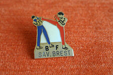 13740 PIN'S PINS BOXE FRANCAISE FRENCH BOXING BF SAV BREST