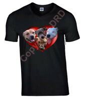 Staffordshire Bull Terrier Tshirt T-shirt Crew or V Neck Staffie Birthday Gift