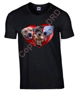 Staffordshire Bull Terrier Tshirt T-shirt Crew or V Neck Staffie Birthday Gift