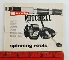 Vintage Garcia Mitchell Fishing Spinning Reels Little Information Booklet