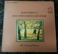Brahms: Symphony No.1 Leinsdorf/Boston Symphony Orchestra RCA Red Seal LSC-2711