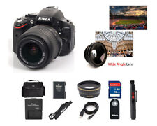 Nikon D5100 16.2 MP Digital SLR Camera W/18-55mm VR Lens (2 LENS). Freeshipping!