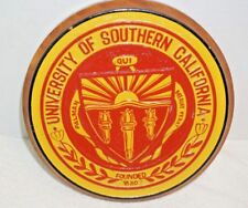 USC University of Southern California Wooden Painted Seal Plaque    #2