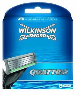 PACK 8 RECAMBIOS DE CUCHILLA DE AFEITAR WILKINSON SWORD QUATTRO PLUS