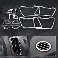 Interior Chrome Steering Wheel+Air Vent Molding Cover for Kia Sportage R 2011+