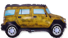 Yellow HUMMER TRUCK SUV Military Defense Humvee Birthday Party Balloon
