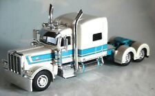 "DCP WHITE GREEN PETERBILT 389 63"" FLATTOP 1/64 60-0669 C ONLY"