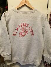 Vintage WWII USMC US MARINE CORPS Stencil Long Sleeve Sweatshirt.