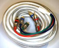 2 Stück - Hama YUV / HDTV Kabel 3x Cinch White 5m 75 Ohm Kabel Cinchkabel weiß