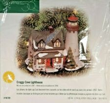 """1998 Dept 56 New England Village Series """"Craggy Cove Lighthouse"""" Ornament 98769"""