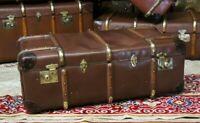Globe Trotter Vintage Banded Suitcase Trunk